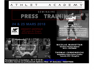 Athlet Academy Formation PRESS TRAINING